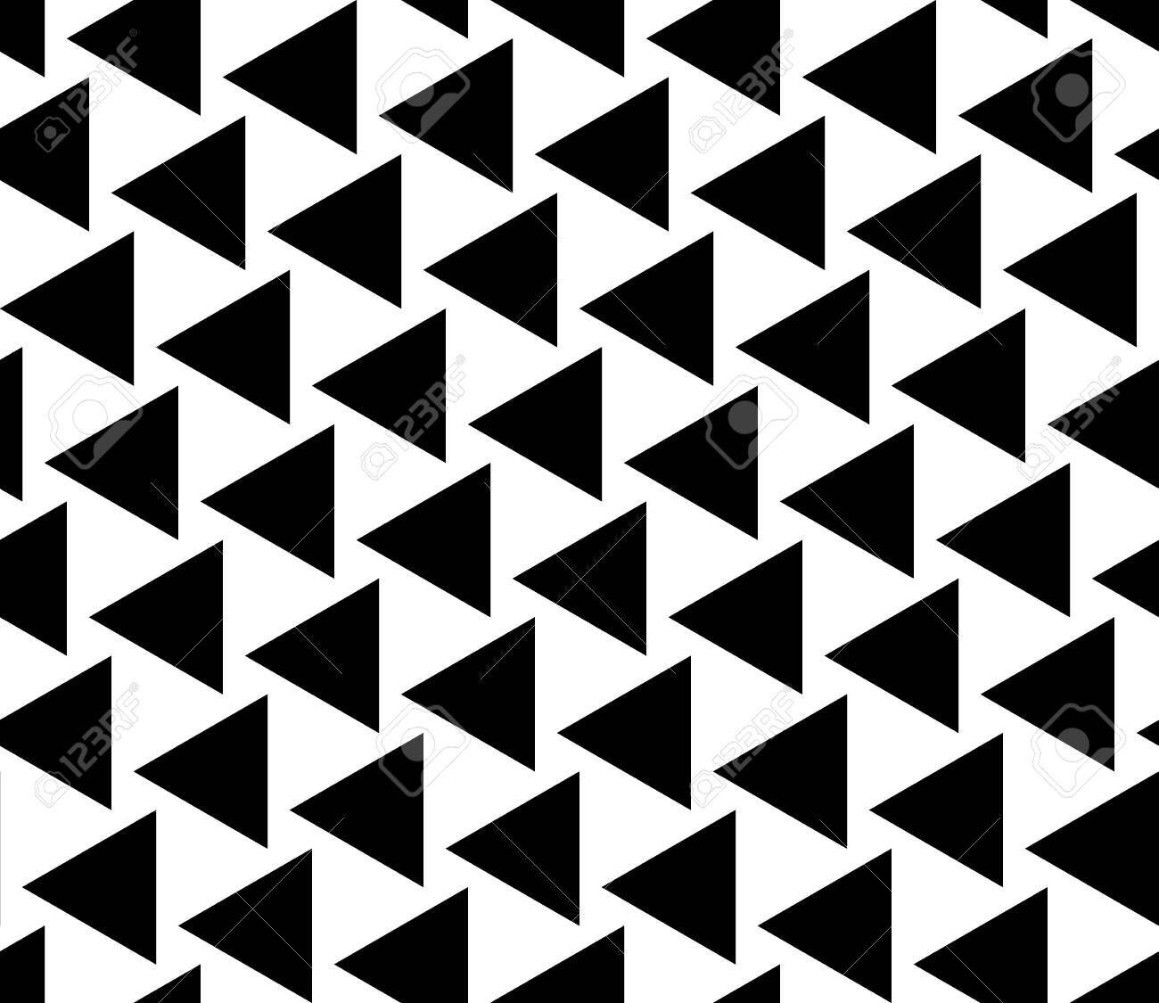 Vector modern seamless geometry pattern triangles, black and white abstract geometric background, trendy print, monochrome retro texture, hipster fashion design - 47775231