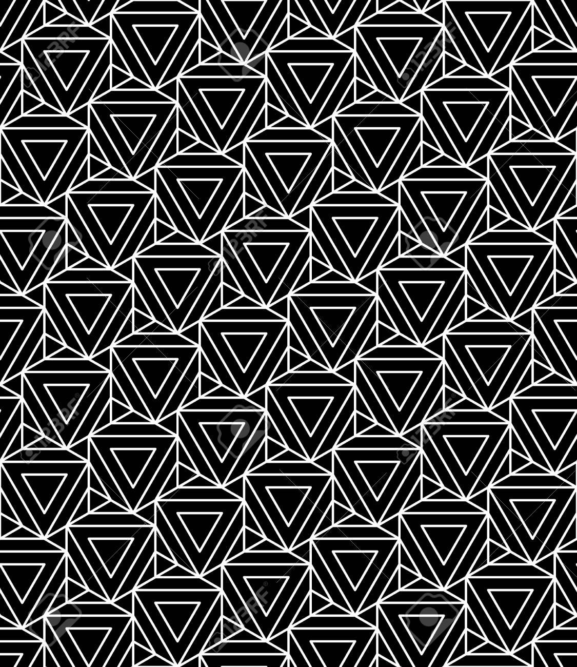 Vecteur Modele De La Geometrie Transparente Moderne Hexagone Noir Et Blanc Abstrait Geometrique Imprime A La Mode Monochrome Retro Texture Design