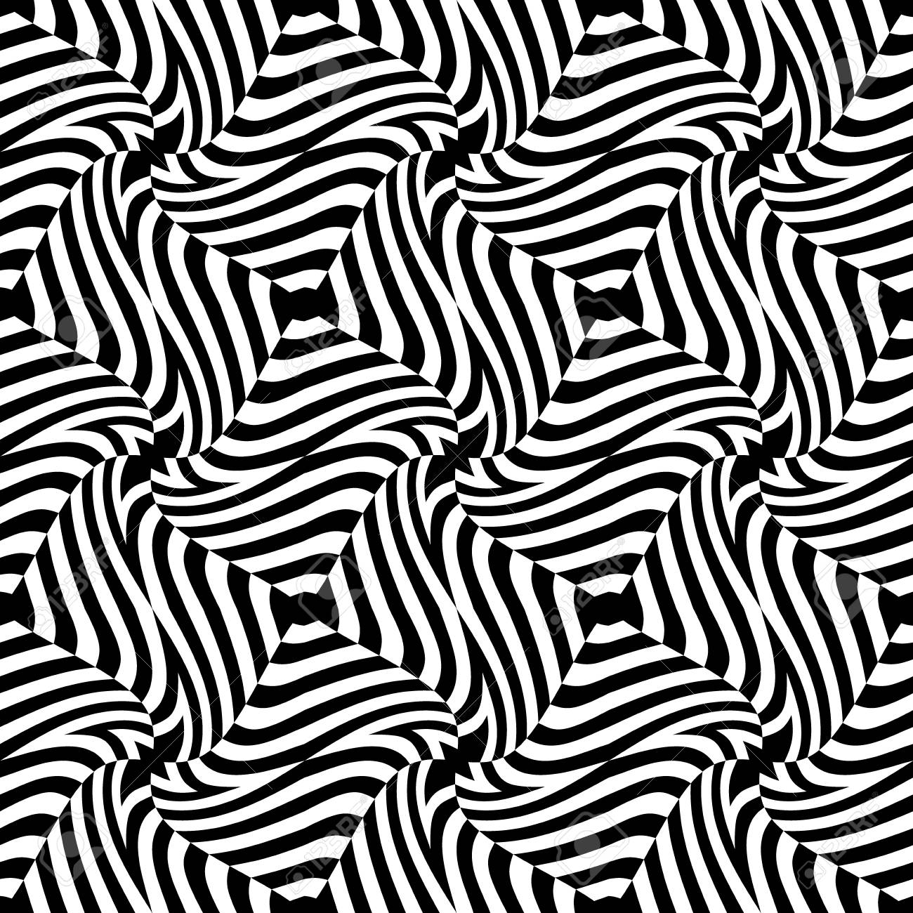 Cross Stitch Pattern Abstract geometric black white 3D optic effect painting pillow Counted Cross Stitch PatternsInstant Download Epattern