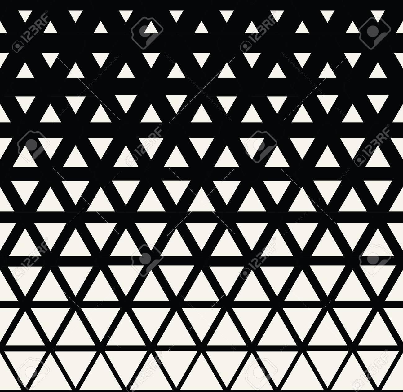 Conception Graphique Motif Geometrique Abstrait Triangle Tramee Noir Et Blanc