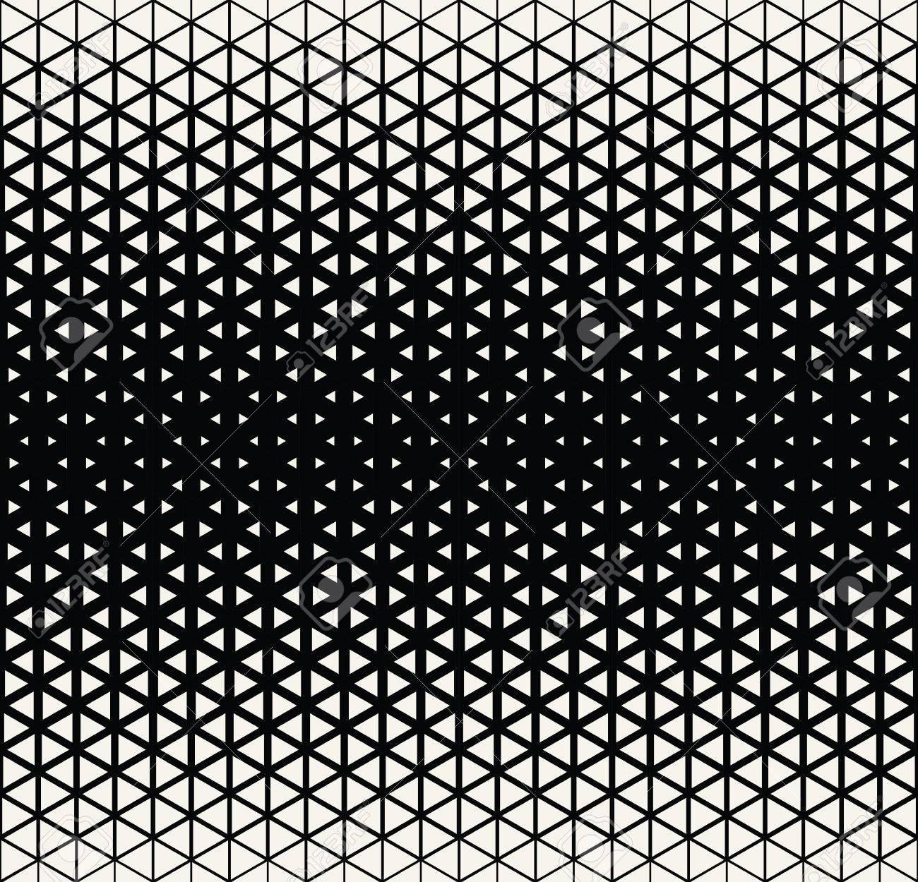 Deco Noir Et Blanc abstract geometric black and white deco art halftone hexagone..