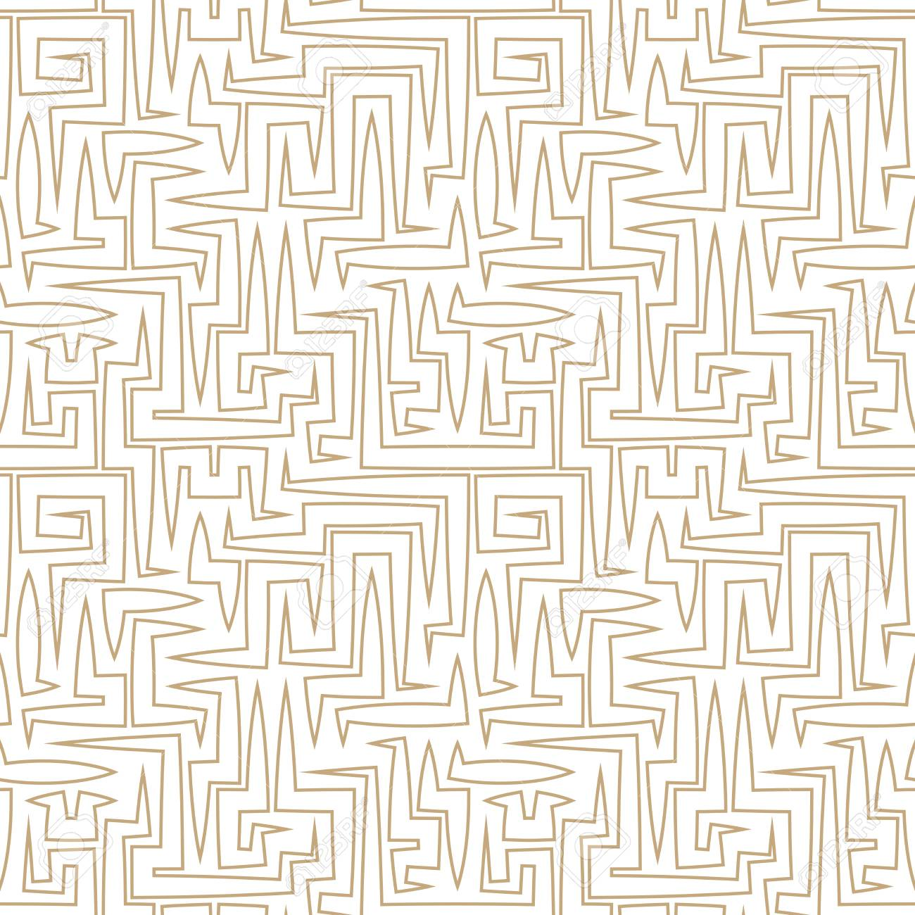 abstract geometric line graphic maze pattern background - 75307085
