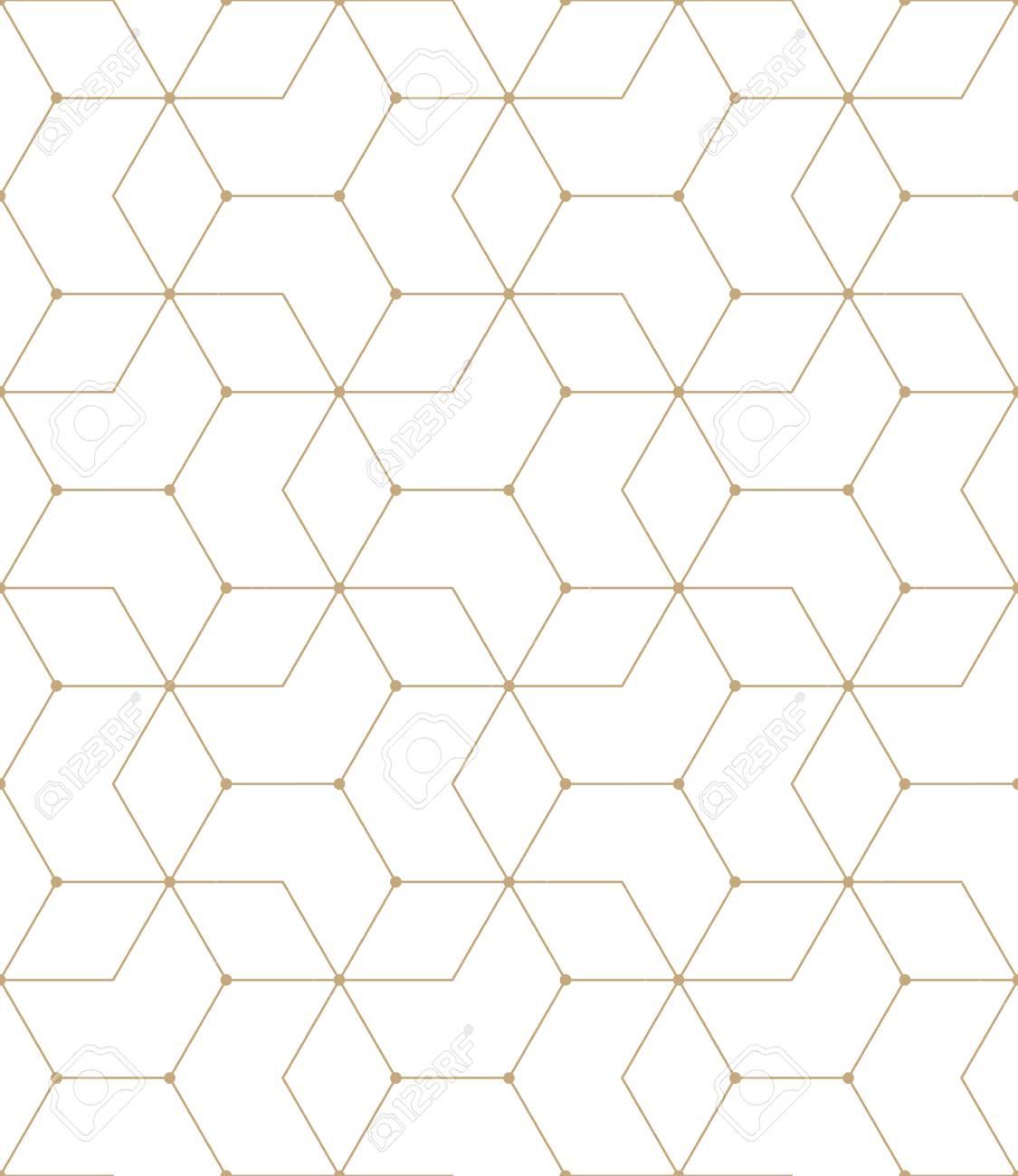 Hexagon Pattern Vector Interesting Decoration