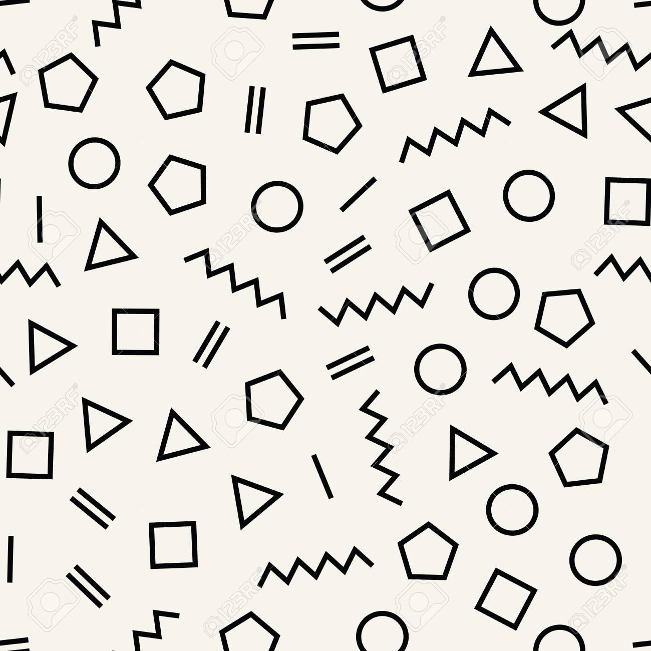 Memphis style geometric seamless pattern Stock Vector , 94182946