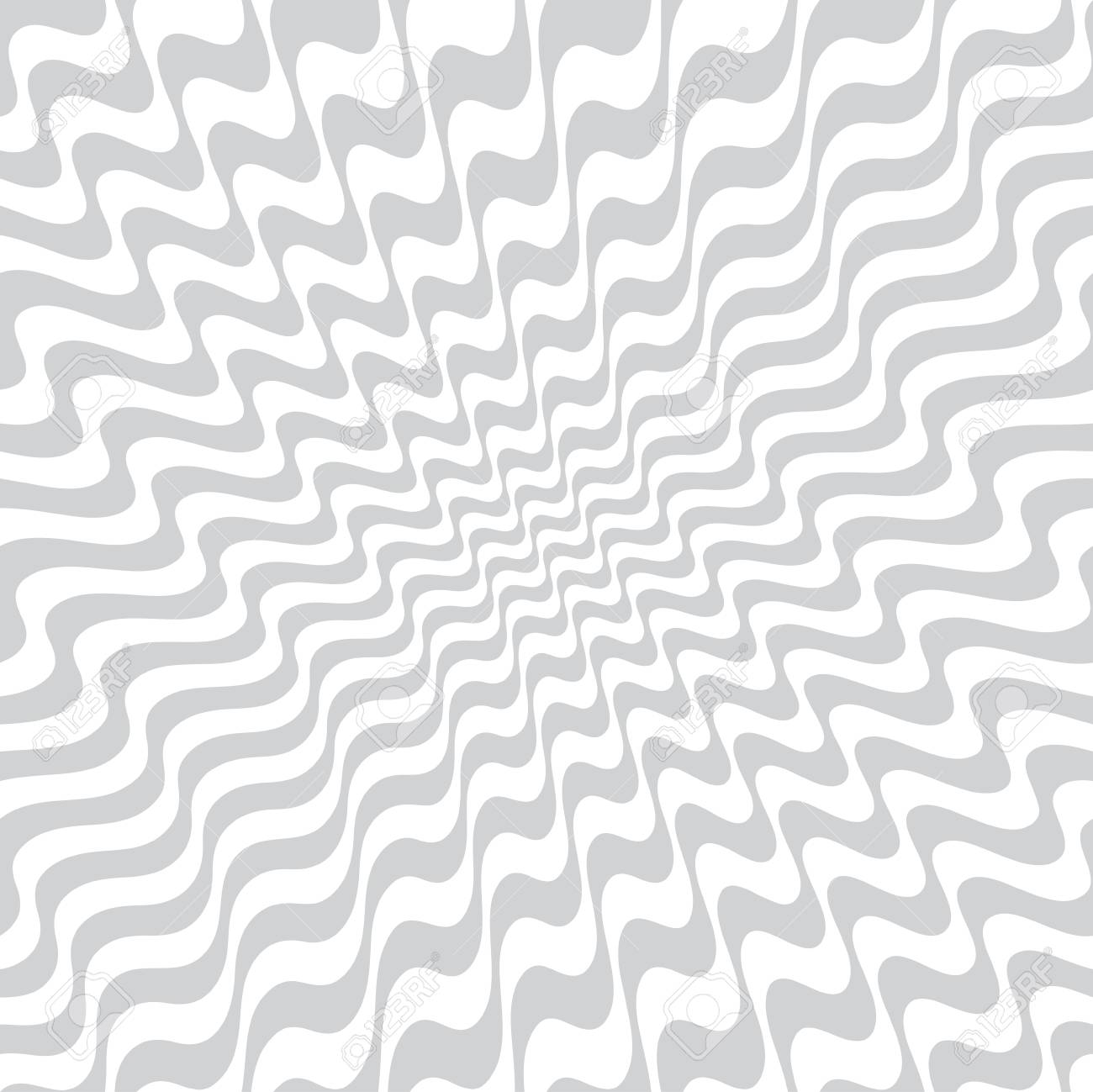 abstract wavy stripes seamless pattern - 97575767