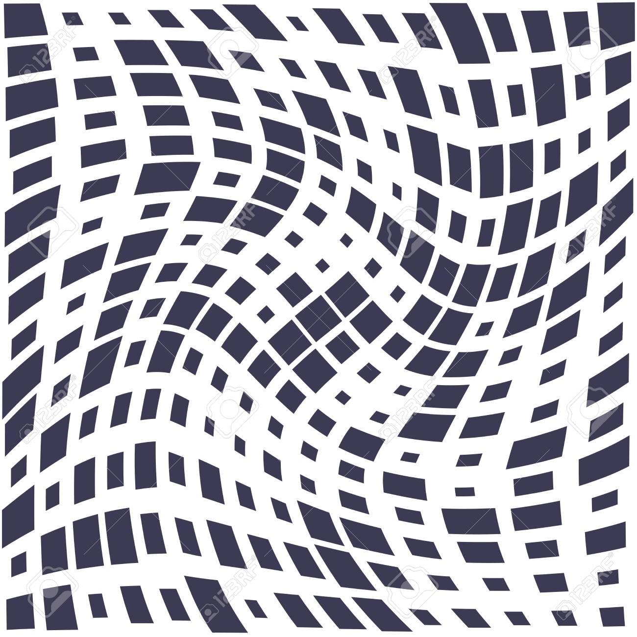 square trippy seamless pattern, minimal geometric background print texture - 126011429
