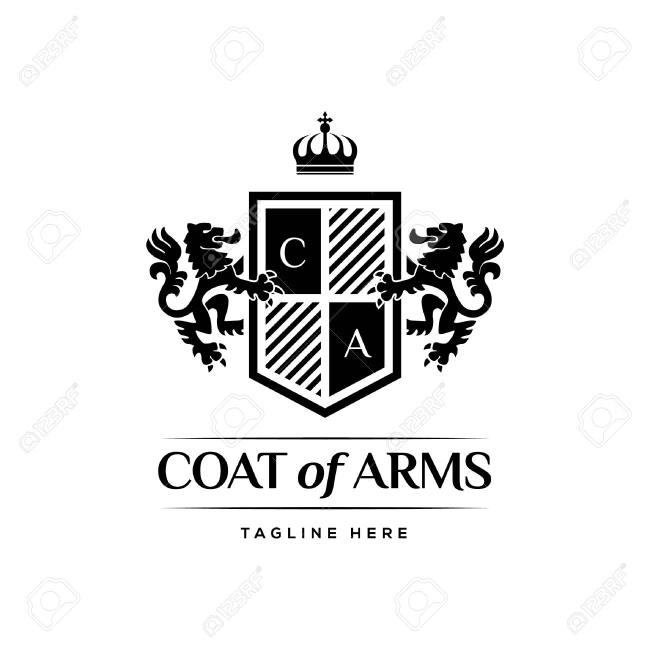 Coat Of Arms Heraldic Luxury Design Concept - 110517676