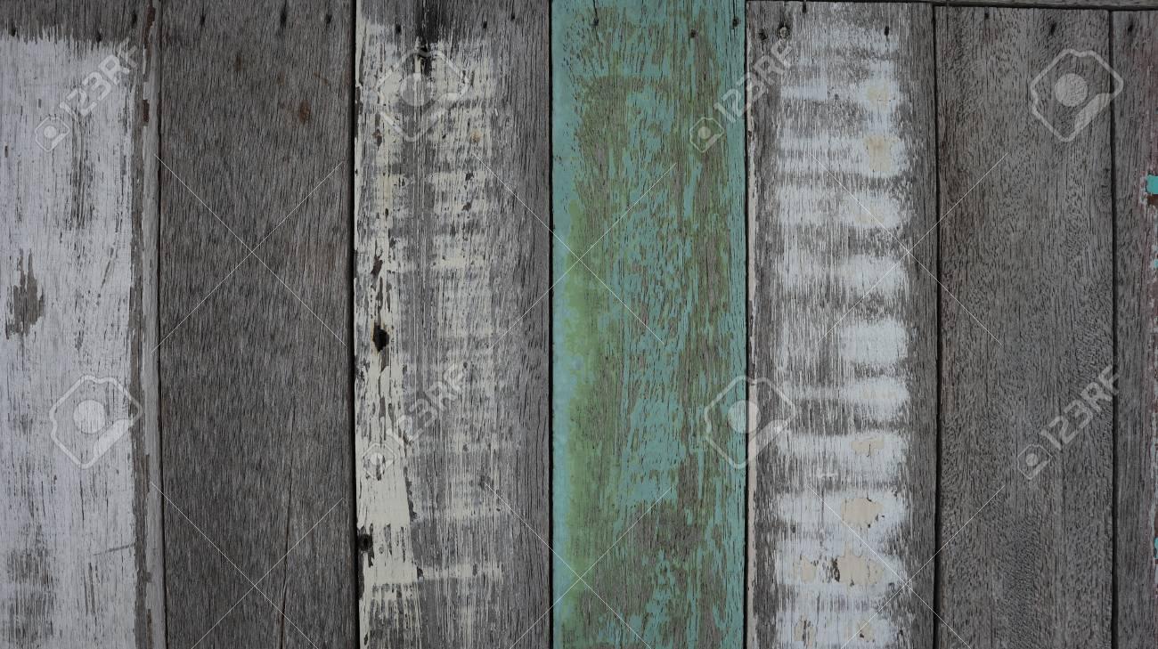 Gemalte Alte Holz Und Plankenwandbeschaffenheit Fur Blauen