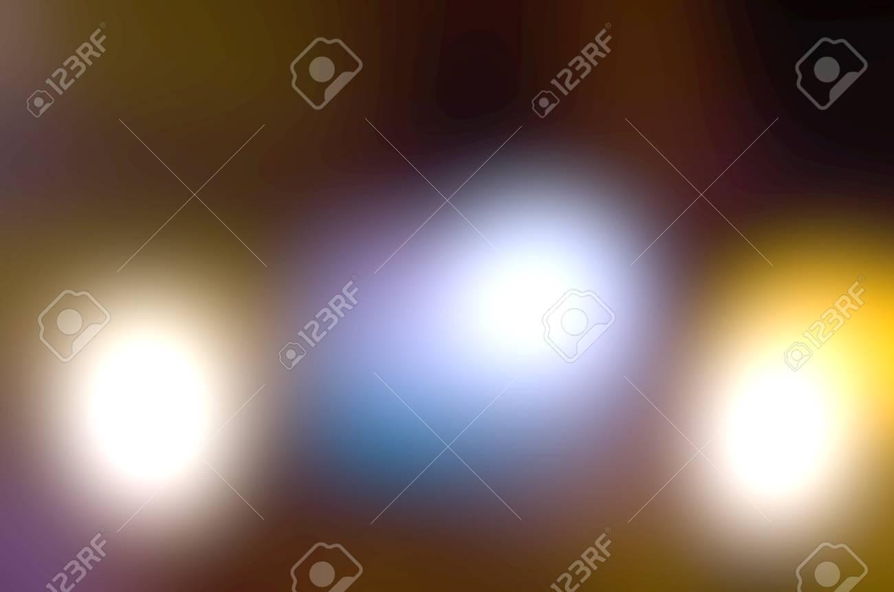 Full bokeh blur background filled with light