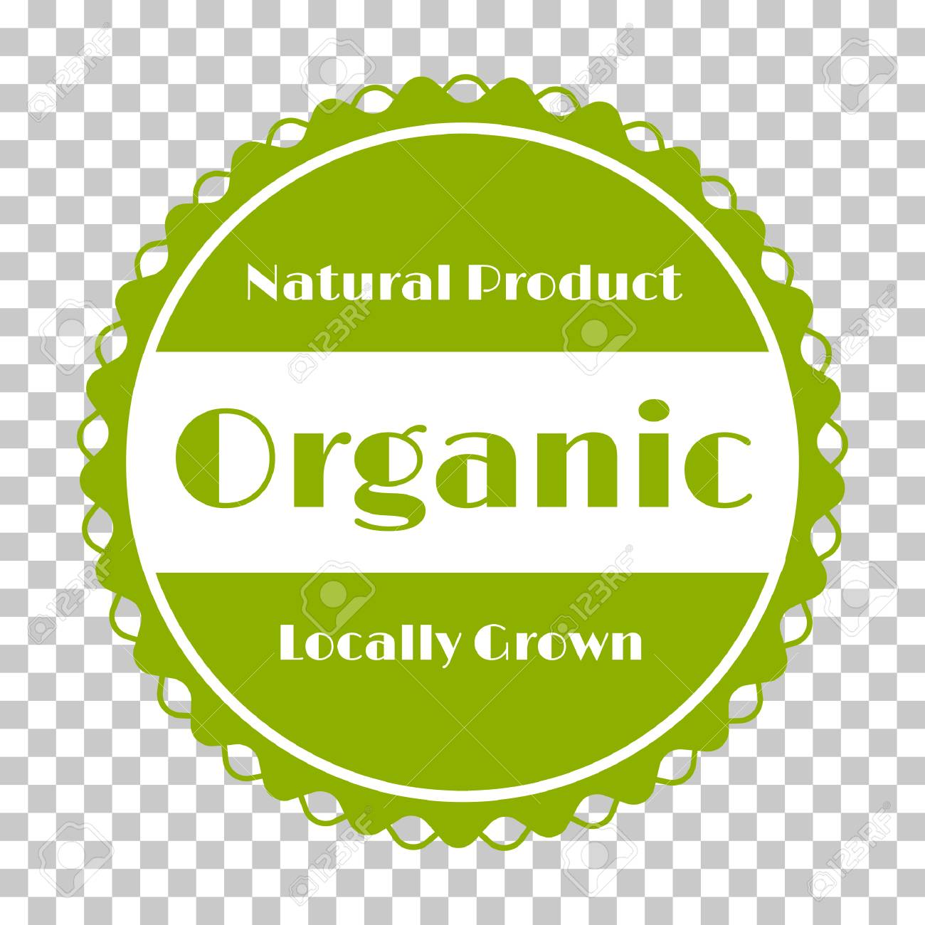 organic products icon food package label vector graphic design