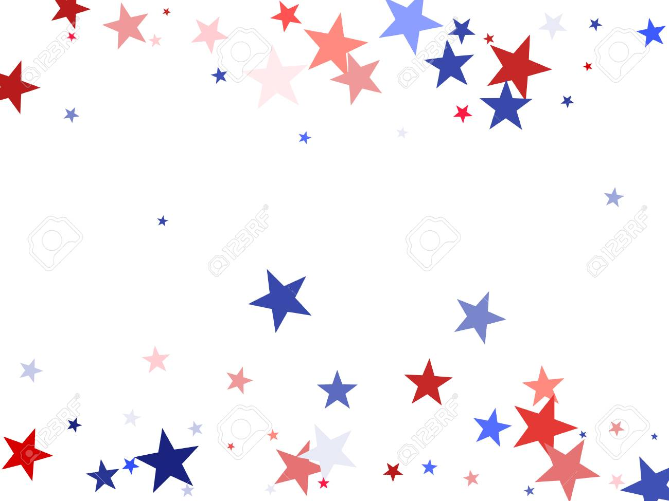 a648d09d713 American President Day background with stars. Holiday confetti in USA flag  colors for President Day