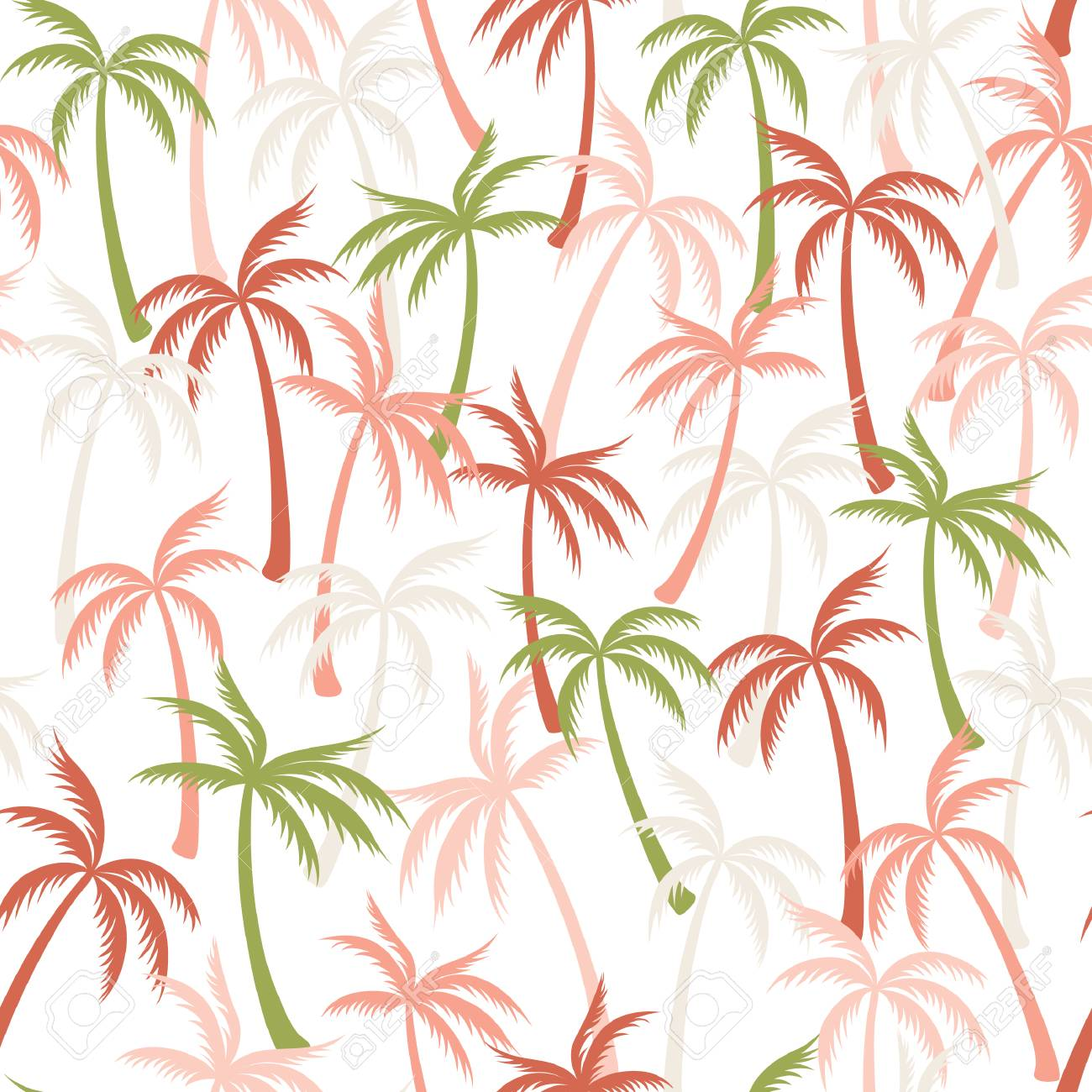 Coconut Palm Tree Pattern Textile Seamless Tropical Forest Background Royalty Free Cliparts Vectors And Stock Illustration Image 117924235