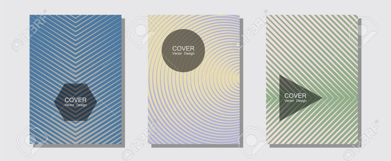 Geometric design templates for banners, covers  Laconic business