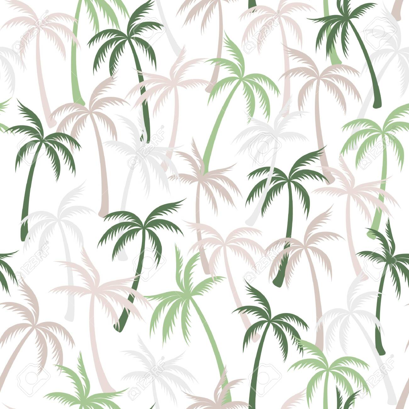 Coconut Palm Tree Pattern Textile Seamless Tropical Forest Background Royalty Free Cliparts Vectors And Stock Illustration Image 122830310