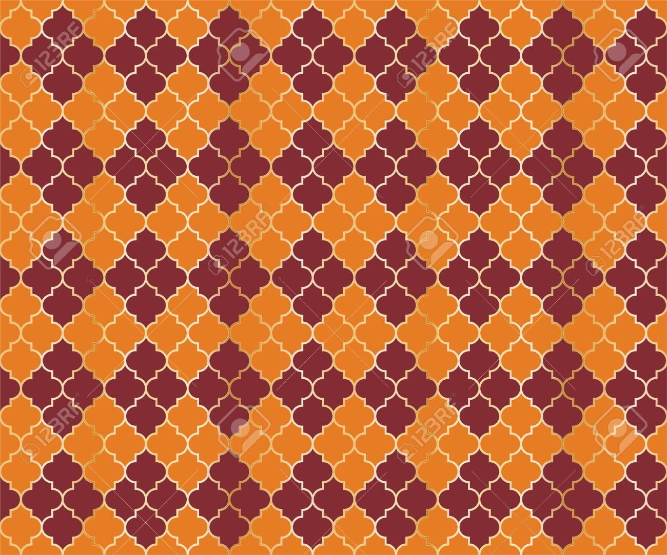 Eastern Mosque Vector Seamless Pattern  Argyle rhombus muslim