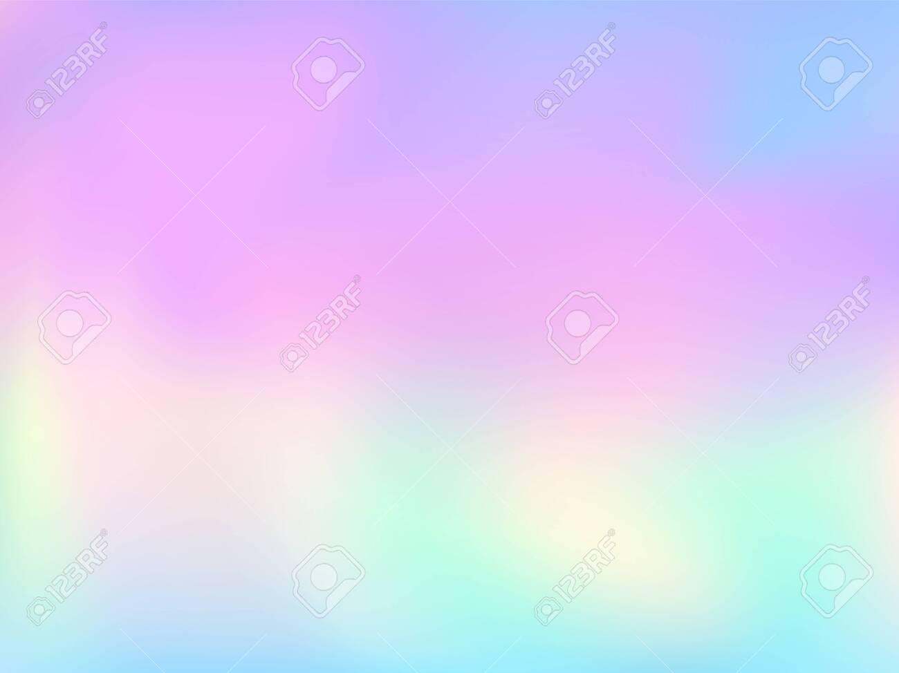 Blurred Hologram Texture Gradient Wallpaper Elegant Pastel Rainbow