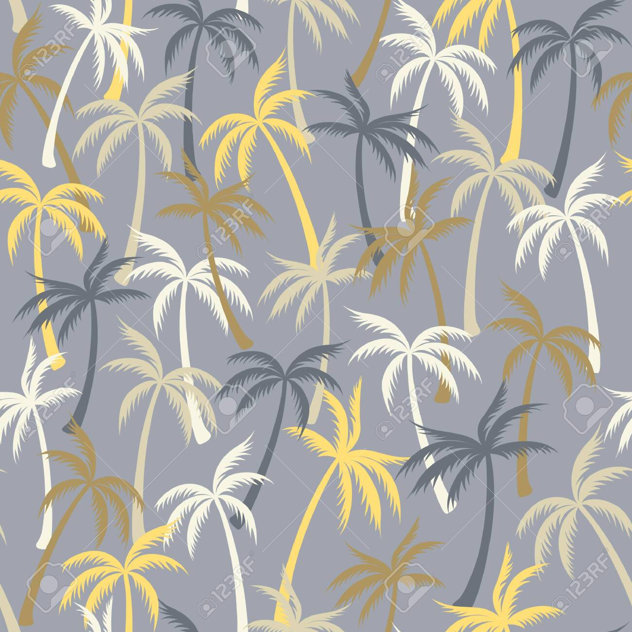 Coconut Palm Tree Pattern Textile Seamless Tropical Forest Background Royalty Free Cliparts Vectors And Stock Illustration Image 142028811