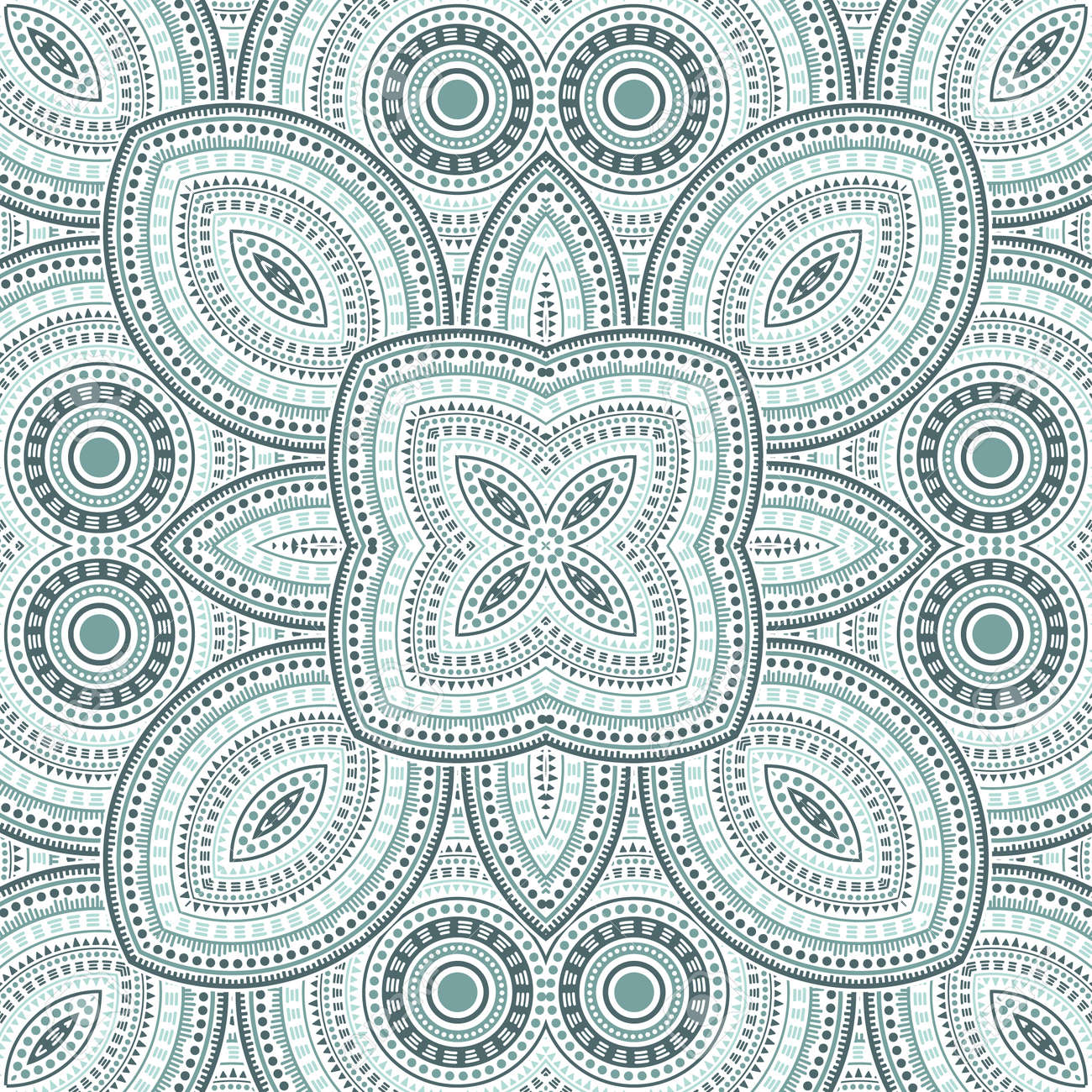 Linear moroccan zellige tile seamless ornament. Ethnic geometric vector elements. Bedcover print design. Stylish moroccan zellige tilework perpetual pattern. Interior decoration print. - 168740797