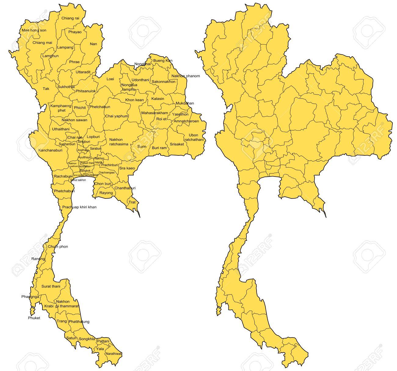 Thailand Map Vector