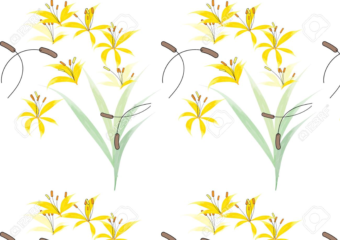 Pattern yellow flower watercolor look with art brush royalty free pattern yellow flower watercolor look with art brush stock vector 51609145 mightylinksfo