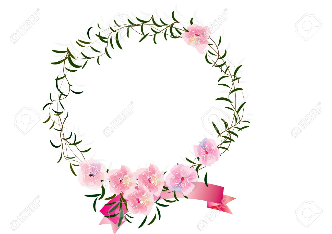 border or frames flowers created ,cherry blossoms flowers border
