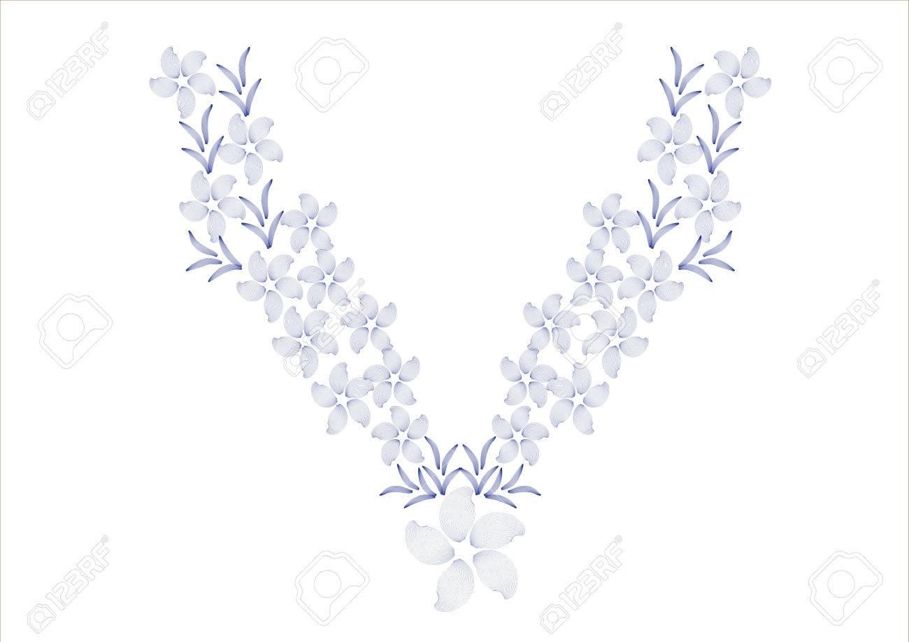 Diseño De La Flor Para Las Camisas De Cuello, Camisas, Blusas ...