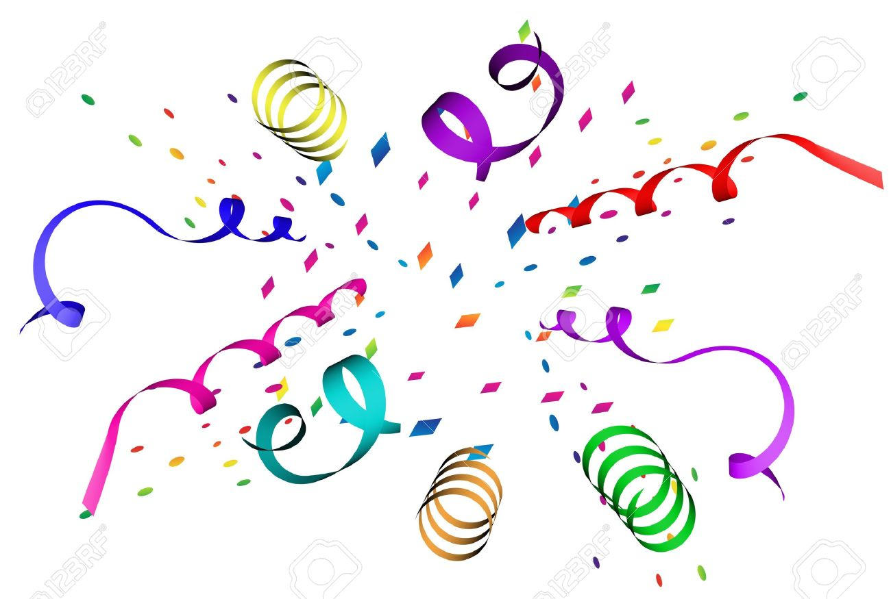 Confetti explosion in different colors over white background - 4223585