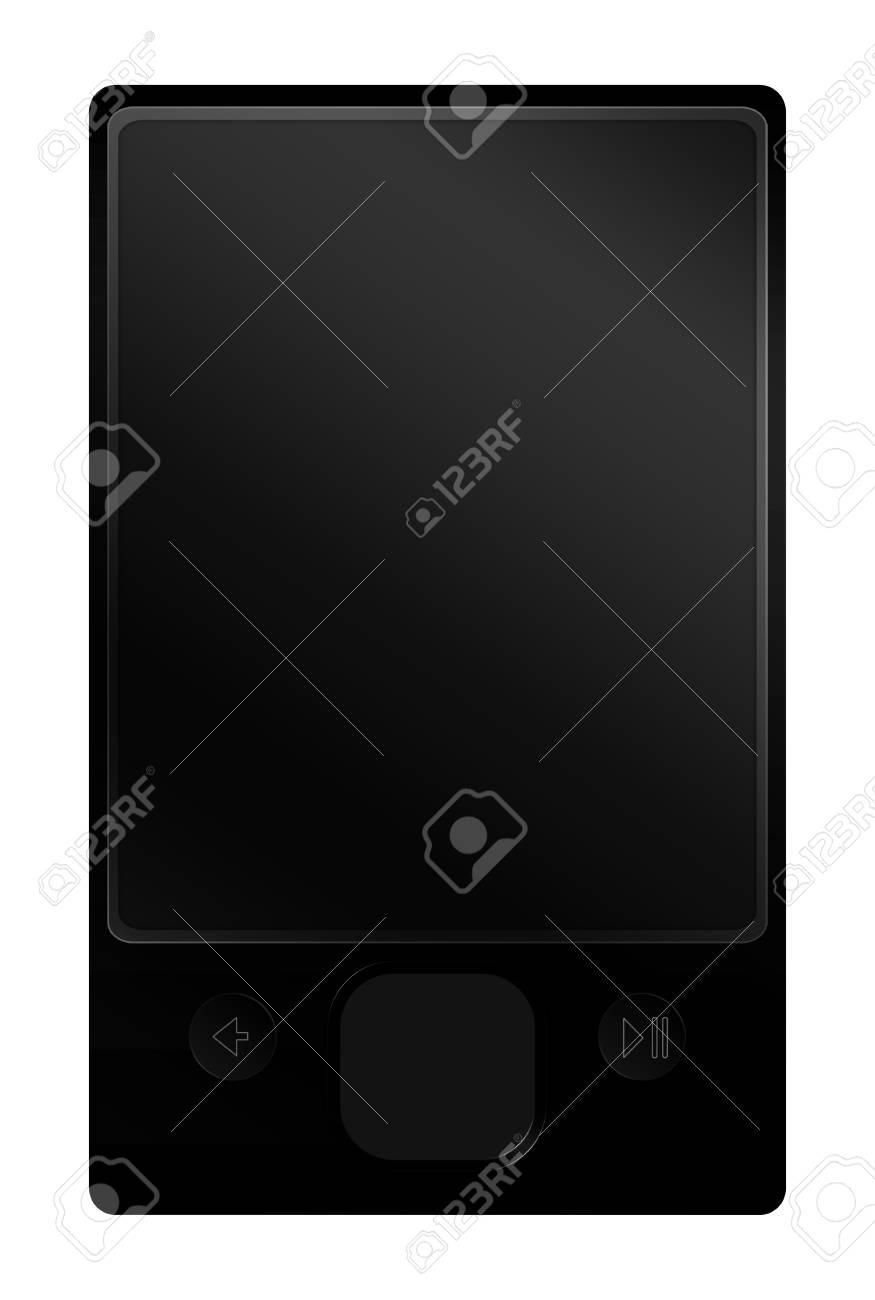 Black multimedia player isolated over white background Stock Photo - 4473265