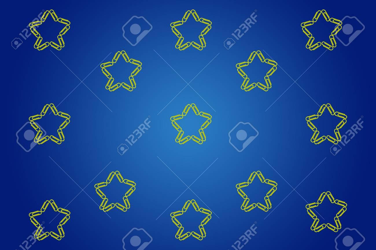 Immagini Stock Cielo Stellato Fatta Di Carta Clip Su Sfondo Blu