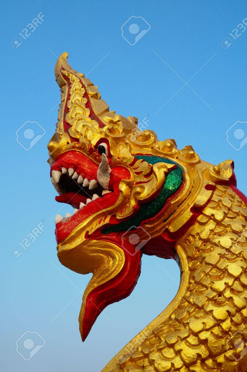 Thai dragon or king of Naga Stock Photo - 8340518