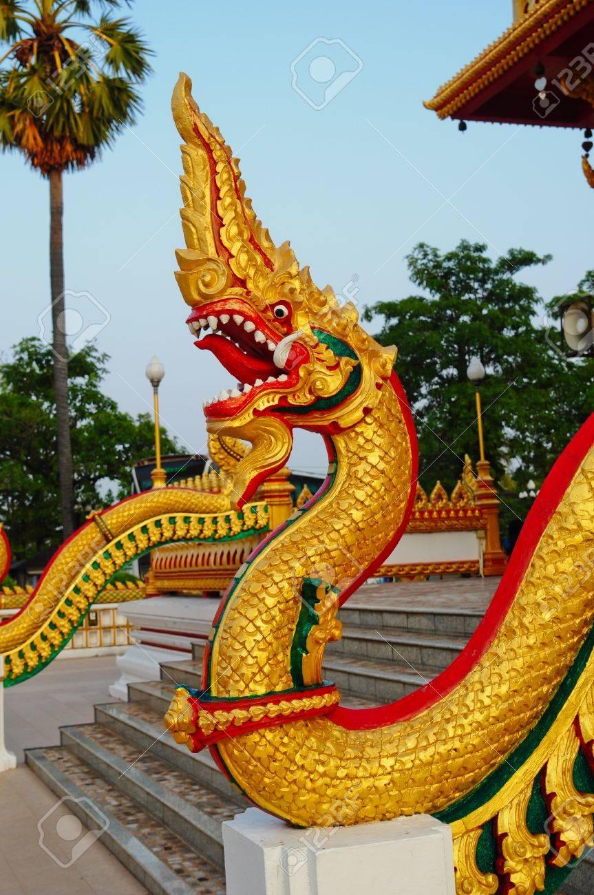 Thai dragon or king of Naga Stock Photo - 8340539