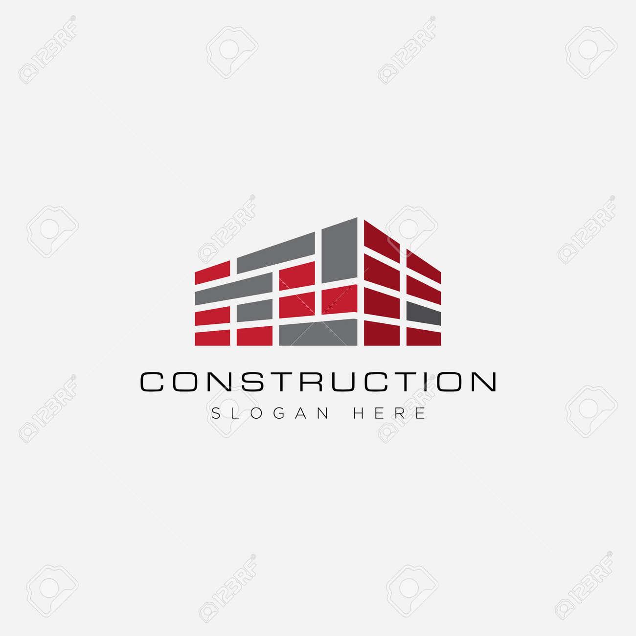 Construction logo design template - 156850701