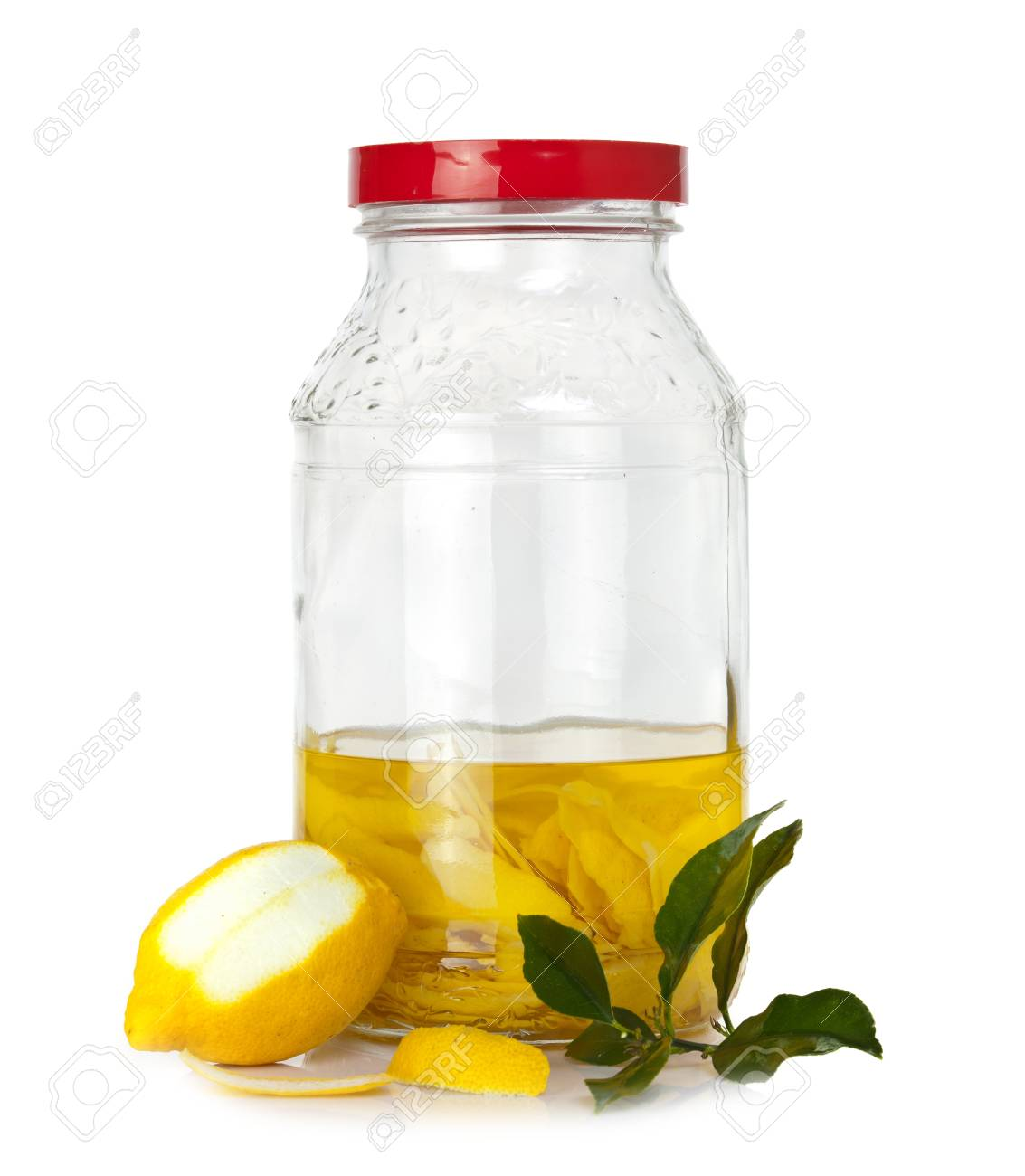 Italienisch Alkoholisches Getränk - Zitronenschale In ...