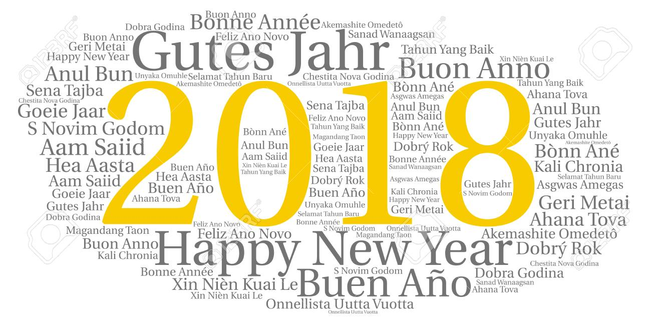 Words Cloud, Concept Of New Year In All Languages Of The World ...