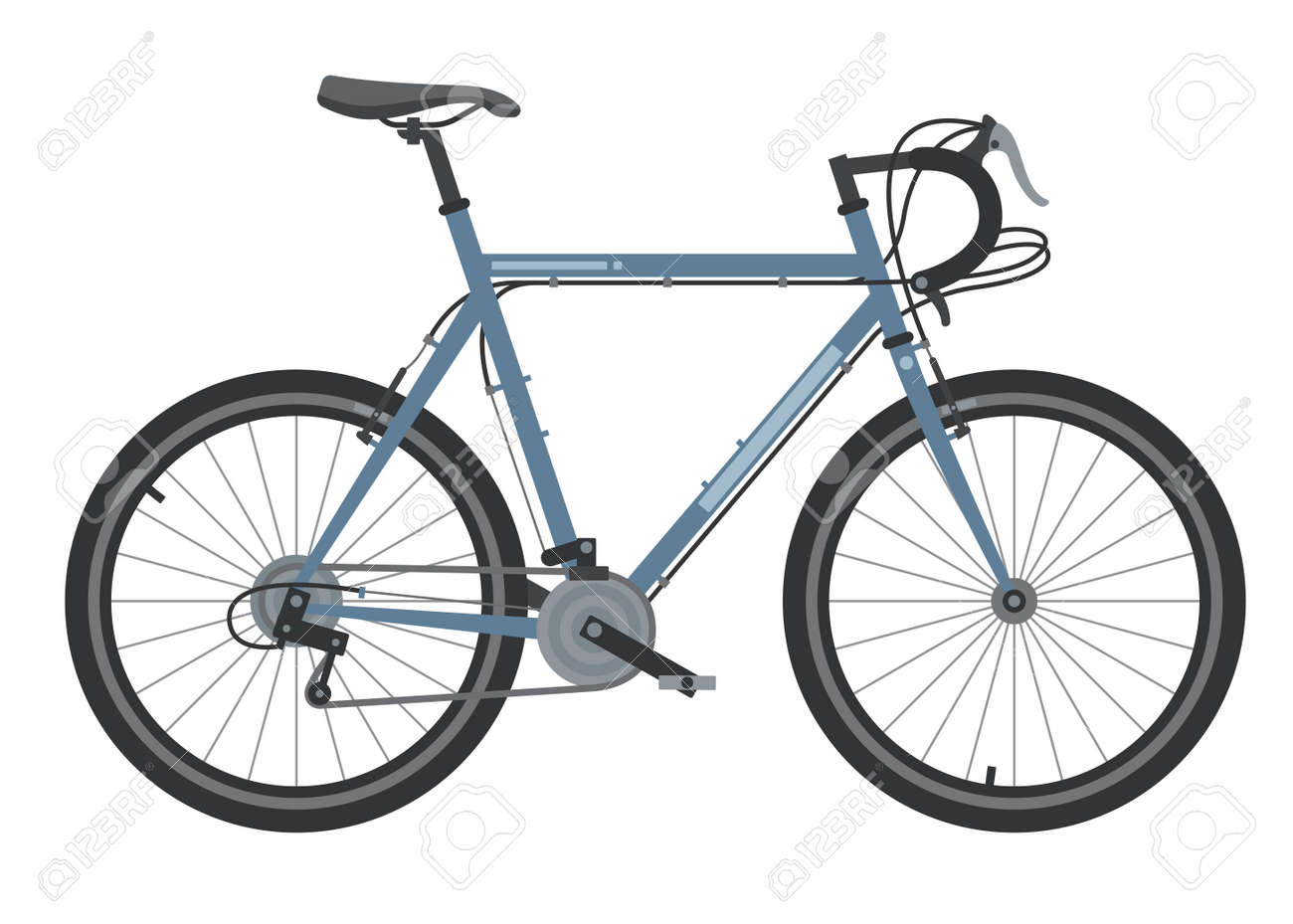 Bicycle element. Bicycle poster. Realistic picture. Vector illustration image. - 145993306
