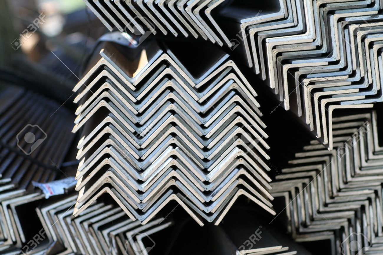 metal profiles angle  foundation for building structures, steel Stock Photo - 14220731
