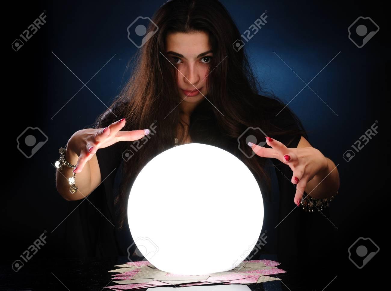 Fortuneteller at work Stock Photo - 6086828