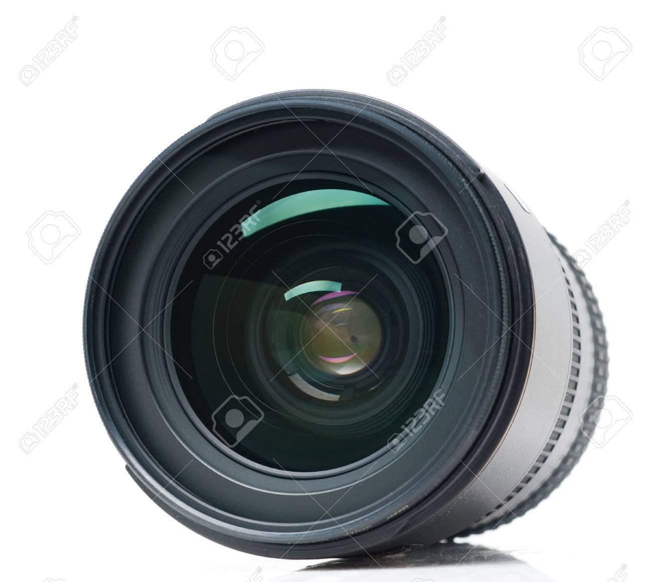 Isolated camera lens Stock Photo - 6392777