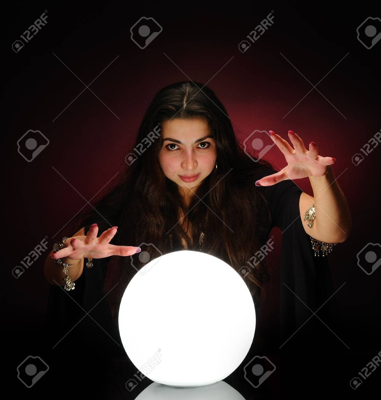 Fortuneteller at work Stock Photo - 6392871