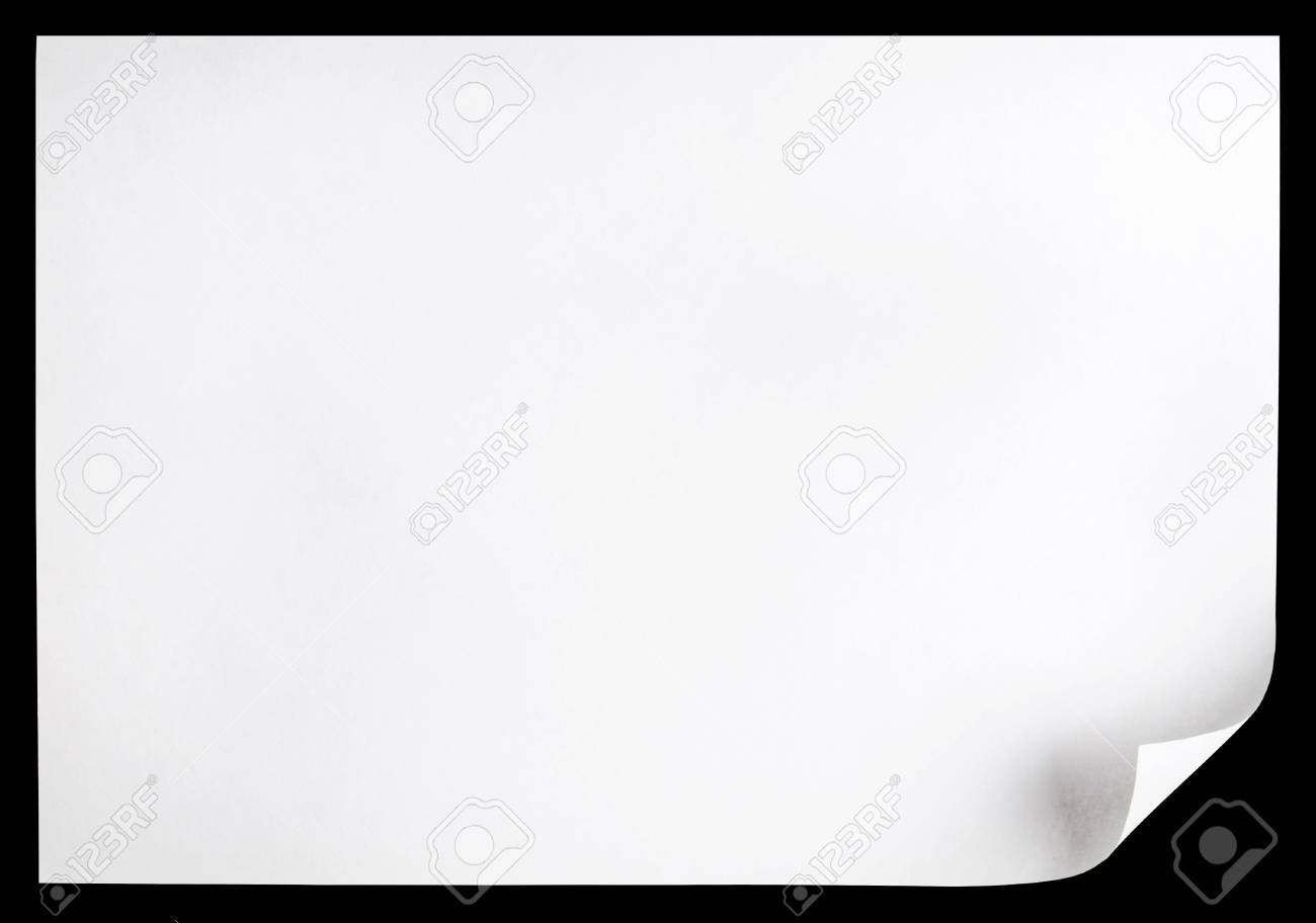 White page curl Stock Photo - 6753429