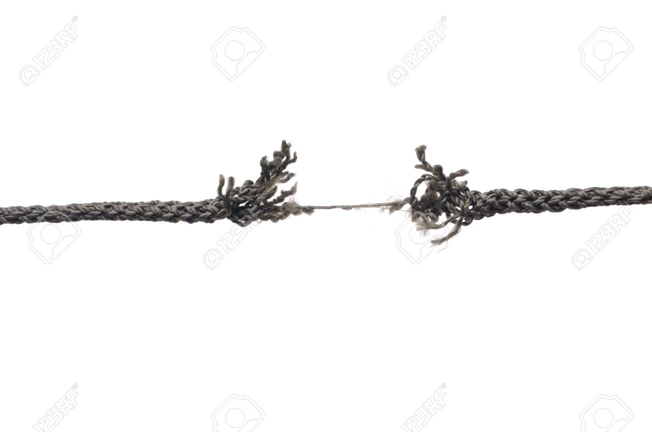 Breaking rope. Isolated over white. Stock Photo - 6900316