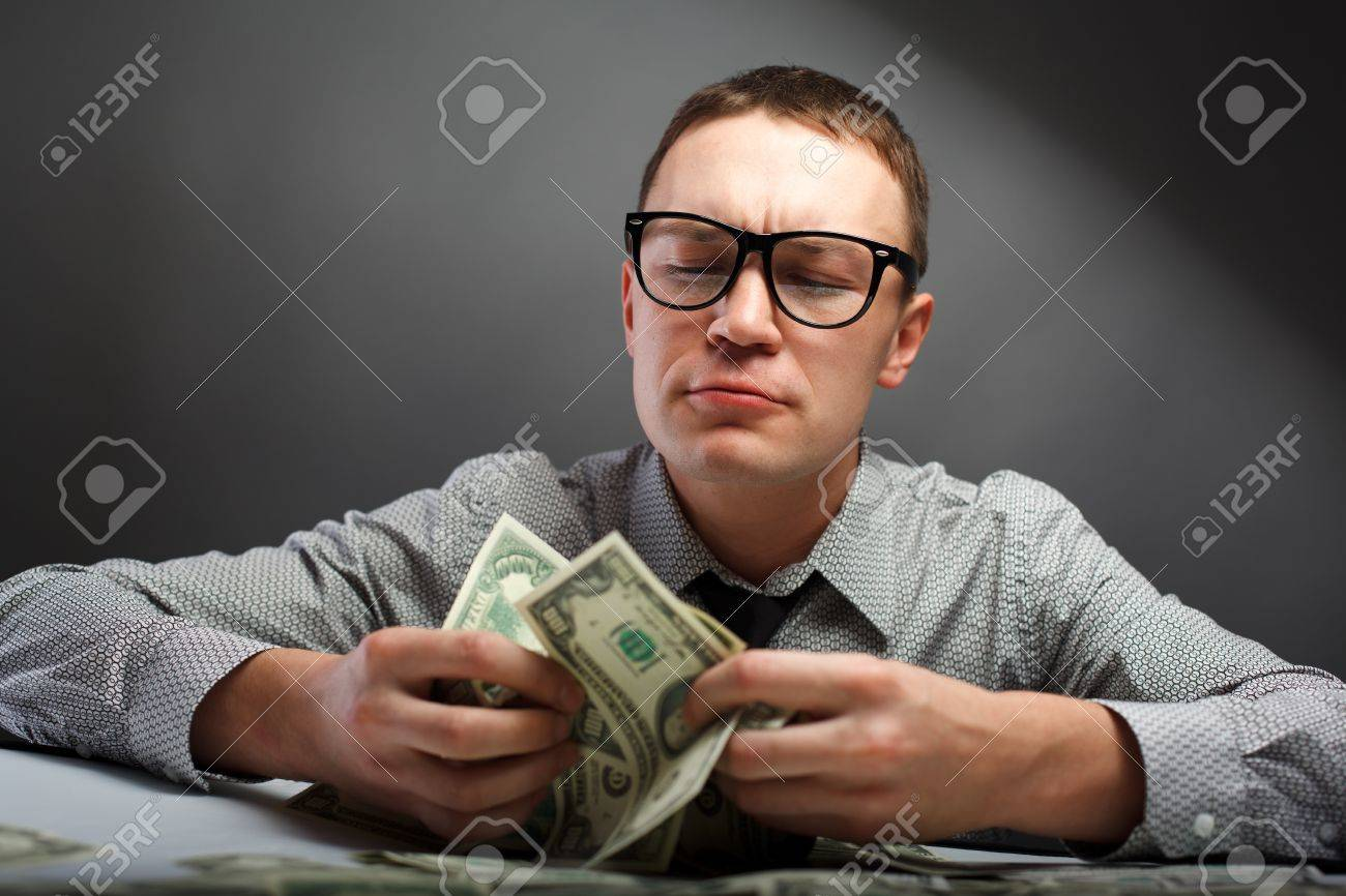 Happy man with money Stock Photo - 9754954