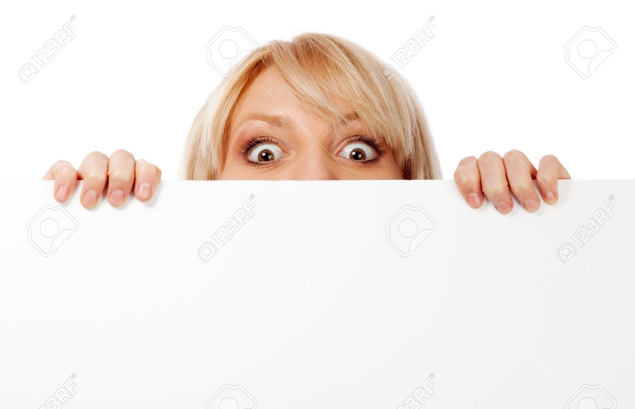 Beautiful woman looking surprised and scared. Isolated over white. Stock Photo - 11150025