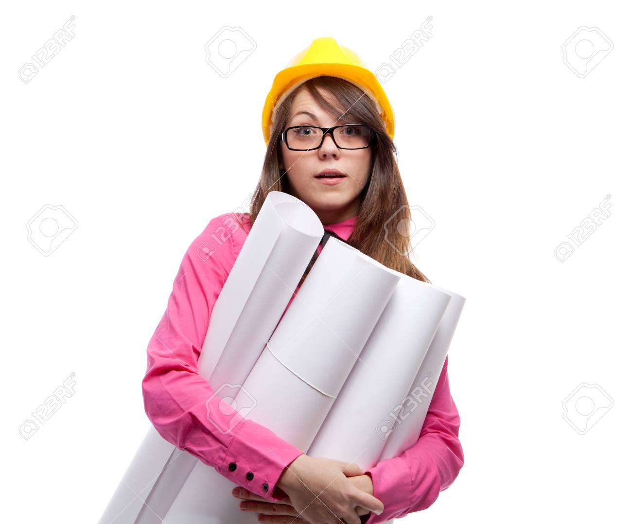 Businesswoman. Isolated over white. Stock Photo - 12526477