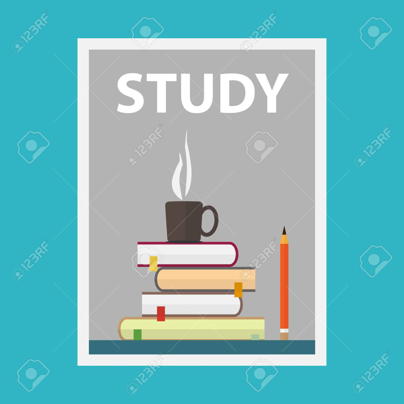 flat design vector illustration concepts of education poster or cover template stock vector 42120663