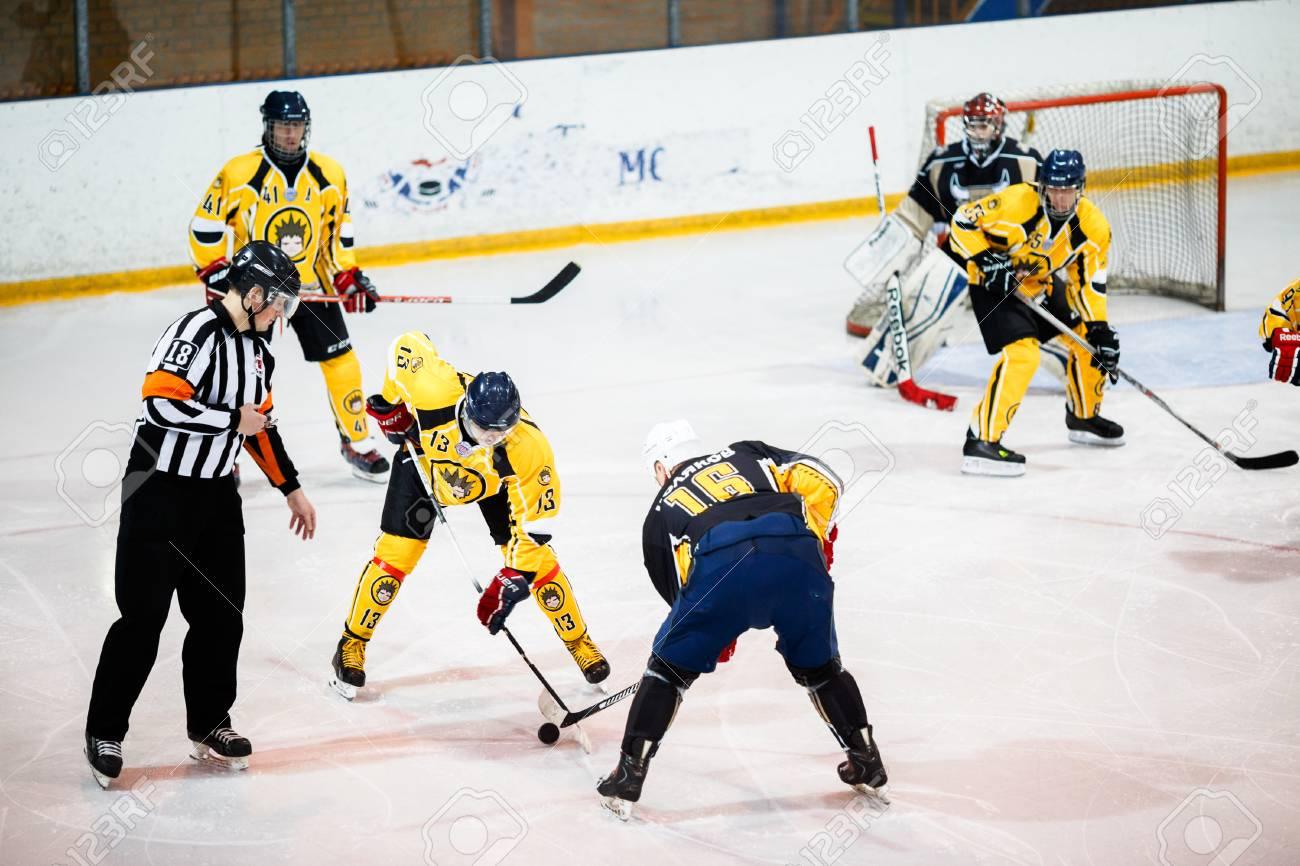 Moscow Russia January 22 2017 Amateur Hockey League Lhl 77