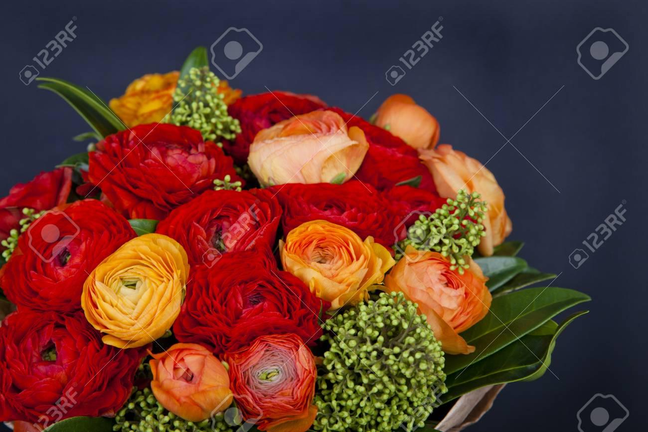 Hochzeit Blumen Der Bunten Rosen Braut Bouquet Braut Tag