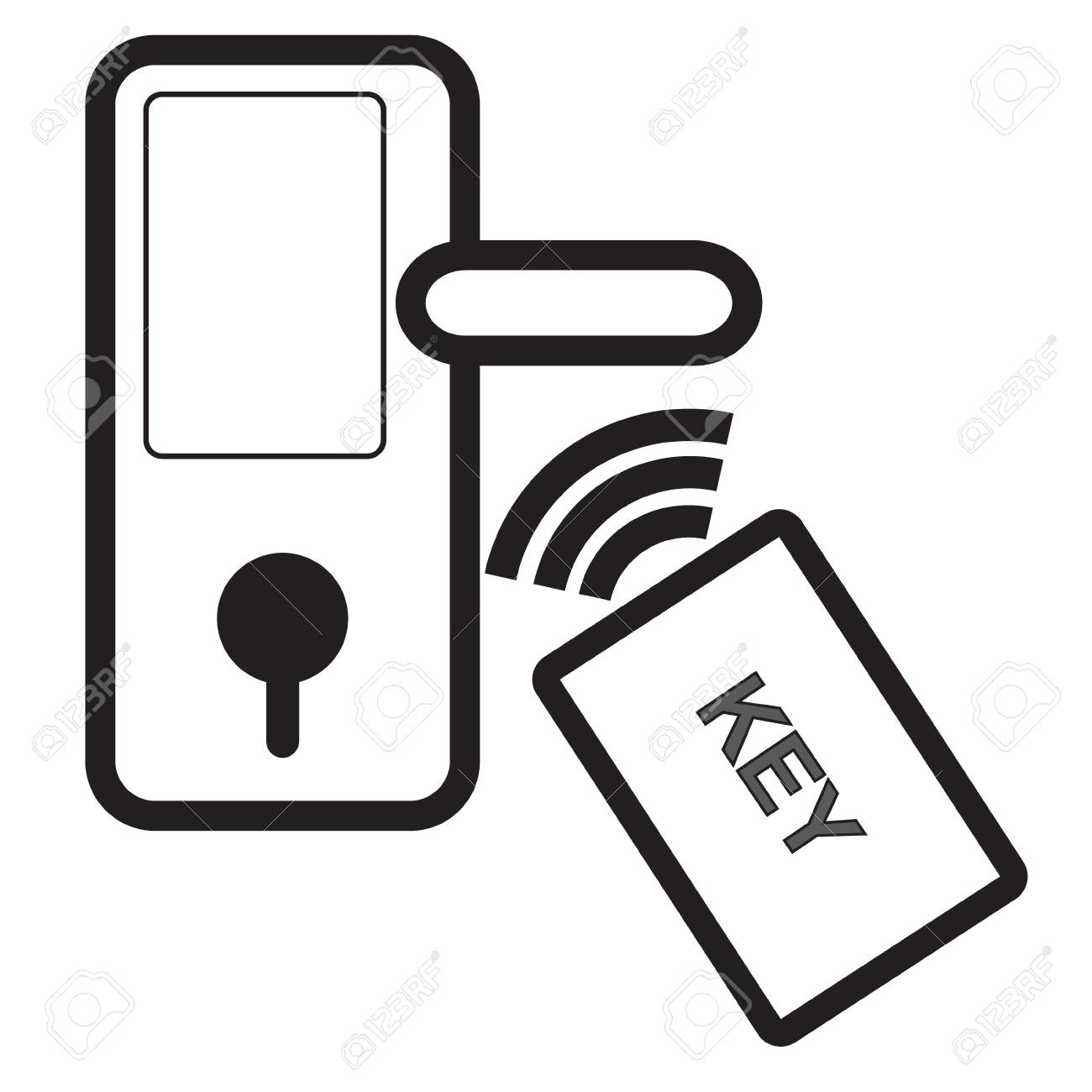 Digital door lock and key wireless card for unlock on isolated