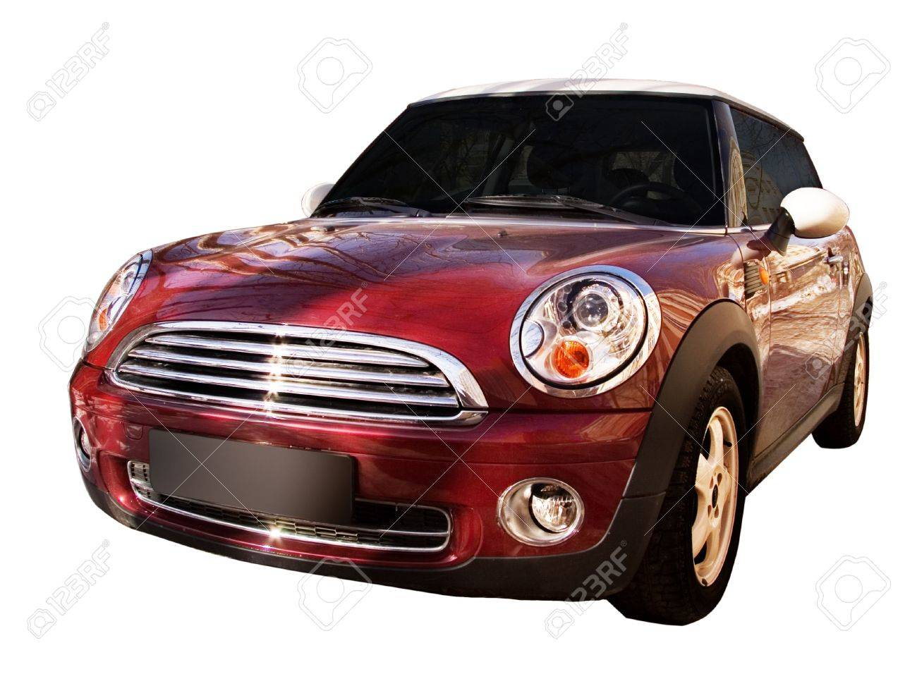 The modern car. Isolated on a white background for easy use. Stock Photo - 4416211