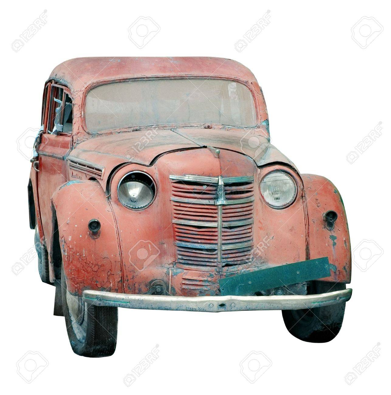 Rusty old car isolated Stock Photo - 4445956